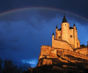 castle and rainbow image