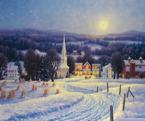 christmas, country, and snow image