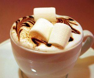 coffee, marshmallow, and chocolate image