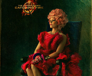 catching fire, effie, and the hunger games image