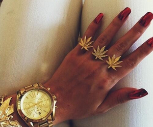 gold, nails, and weed image