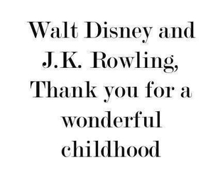 harry potter, j.k rowling, and mickey mouse image