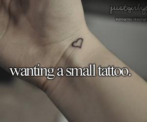 tattoo, heart, and small tattoo image