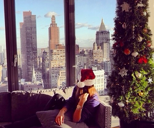 christmas, girl, and city image