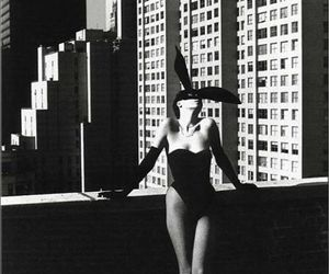 black and white, bunny, and helmut newton image
