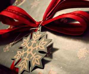 christmas, gift, and red image