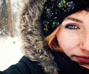 blue eyes, freckles, and girl image