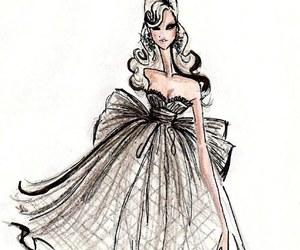 fashion, dress, and illustration image