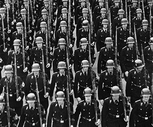 black and white, soldiers, and third reich image