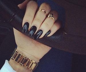 nails, black, and car image