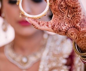 henna, bangle, and indian image
