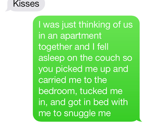 apartment, asleep, and kisses image
