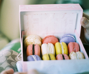 food, macarons, and vintage image