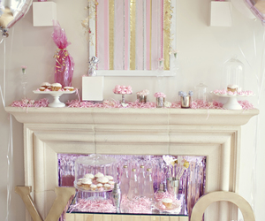 decor, party, and pink image