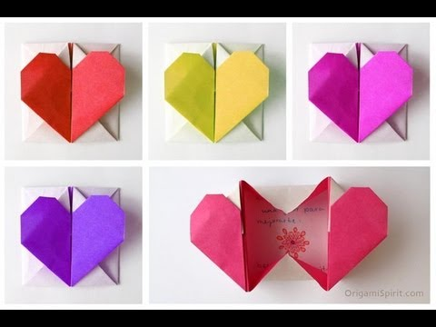 Easy Origami Heart Necklace Tutorial - DIY - Paper Kawaii - YouTube | 360x480