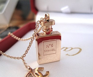 chanel, perfume, and gold image