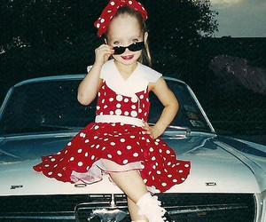 child, girl, and polka dot image