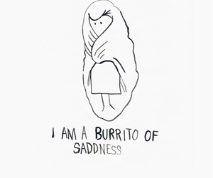 burrito, sadness, and sad image