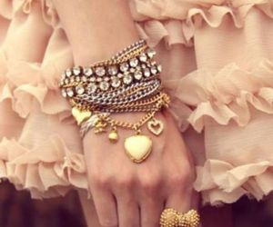 bow, pink, and bracelets image