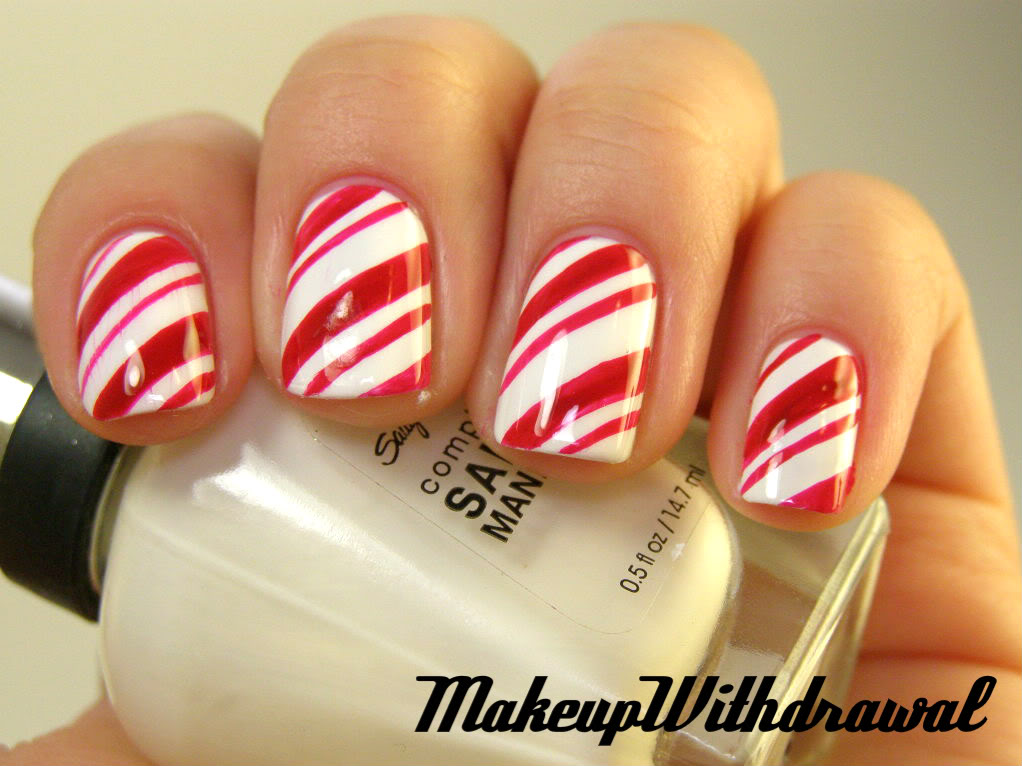 Candy cane nail designs images nail art and nail design ideas nail art shared by charmaine on we heart it prinsesfo images prinsesfo Choice Image