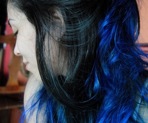 blue, colored hair, and dyed hair image