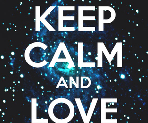 cool, galaxy, and keep calm image
