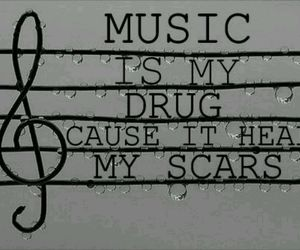 music, drugs, and quote image