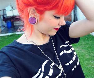 hair, orange, and piercing image