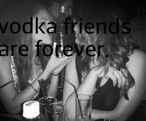 vodka, girl, and friends image