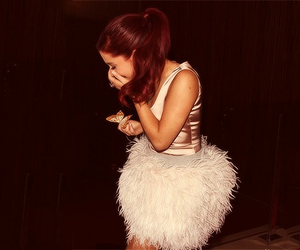 ariana grande, dress, and red hair image