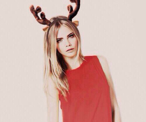 christmas, model, and cara delevingne image