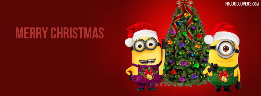 Minions wishing merry christmas through christmas cover photos for ...