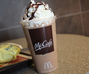 McDonalds, coffee, and mccafe image