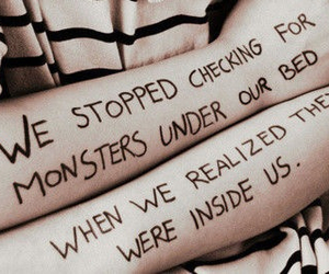 depression, eating disorder, and monsters image