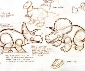 concept art, toy story 3, and dinosaur image