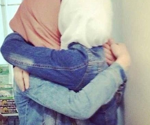 hijab, friendship, and sisters image