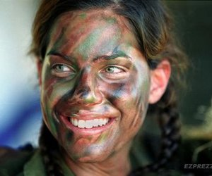 army, face, and girl image