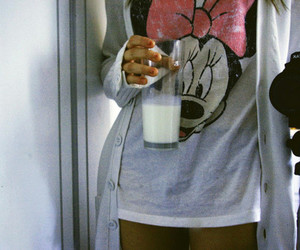 milk, girl, and minnie image