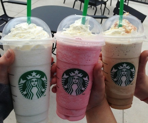 drink, frappuccino, and sweet image