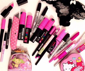 markers, panties, and pink image