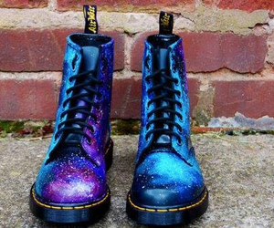 shoes, galaxy, and boots image