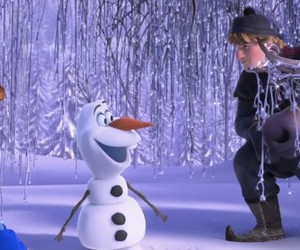 frozen, olaf, and kristoff image