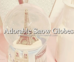 adorable, eiffel, and snow image