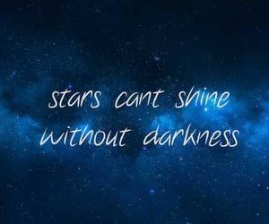 stars, shine, and Darkness image