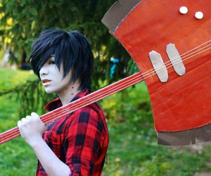 adventure time, hora de aventura, and marshall lee image