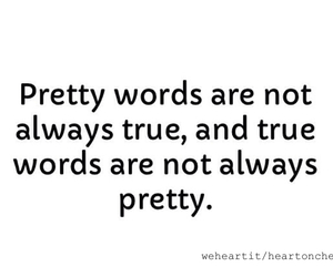 pretty, true, and words image