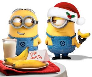merry christmas, minions, and happy holidays image
