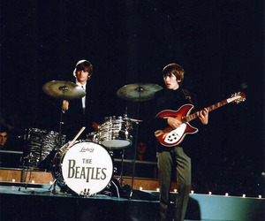 ringo starr, george harrison, and the beatles image