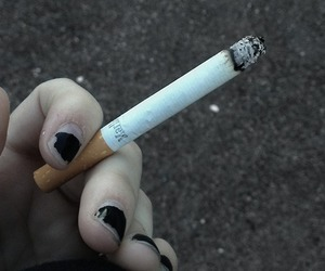cigarette, smoke, and grunge image