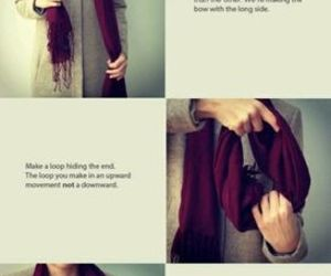 bow, scarf, and tutorial image